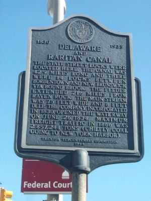 Delaware and Raritan Canal Marker image. Click for full size.