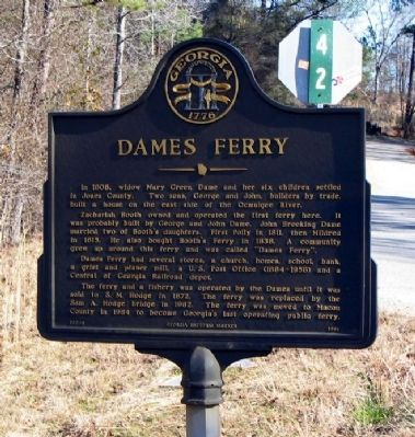 Dames Ferry Marker image. Click for full size.