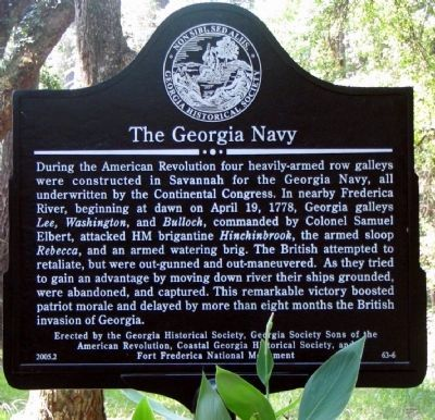 The Georgia Navy Marker image. Click for full size.