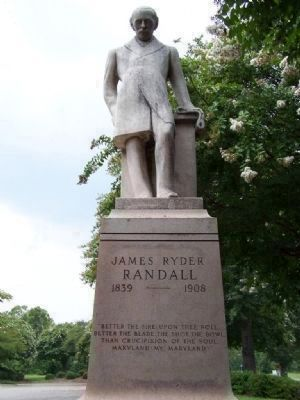 James Ryder Randell, co- Editor (mentioned on this marker) image. Click for full size.
