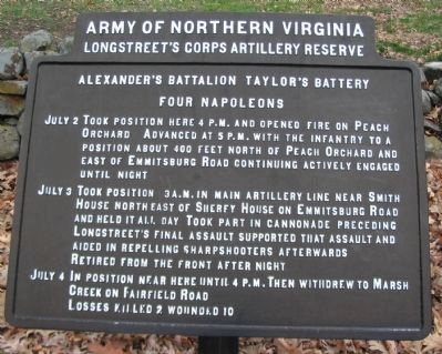 Alexander's Battalion, Taylor's Battery Tablet image. Click for full size.