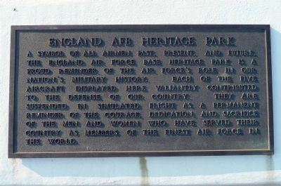 England AFB Heritage Park Marker image. Click for full size.