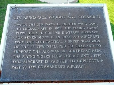 LTV Aerospace Vought A-7D Corsair II Marker Photo, Click for full size