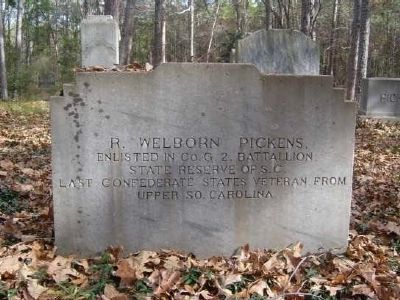 R. Welborn Pickens Tombstone image. Click for full size.