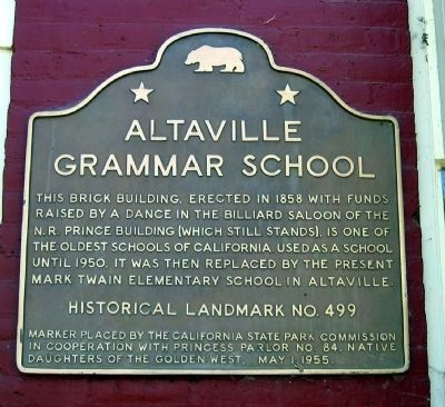 Altaville Grammar School Marker Photo, Click for full size