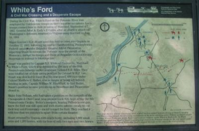 White's Ford Marker Photo, Click for full size
