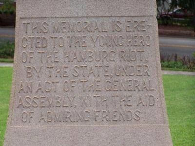 Meriwether Monument Marker </b>(west face) Photo, Click for full size