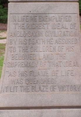 Meriwether Monument Marker </b>(north face) Photo, Click for full size