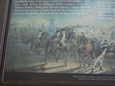 """Battle of Princeton"" painting courtesy of the Princeton University Libraries image. Click for full size."