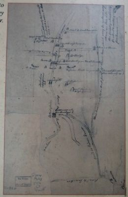 Spy map of back road to Princeton, requested by Colonel John Cadwalader. image. Click for full size.