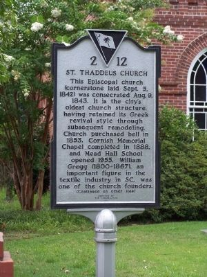 St. Thaddeus Church Marker </b>(front) image. Click for full size.
