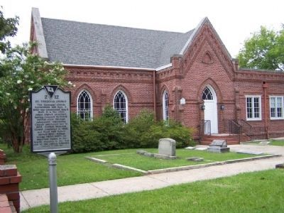 St. Thaddeus Church and Marker image. Click for full size.
