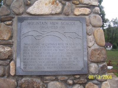 Mountain View School Marker image. Click for full size.