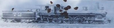 a 4-6-0 engine of the Augusta Southern Railroad, as seen on marker image. Click for full size.