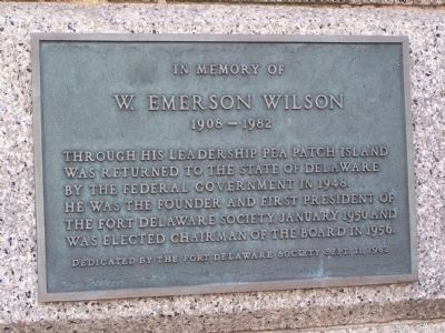 W. Emerson Wilson Plaque image. Click for full size.