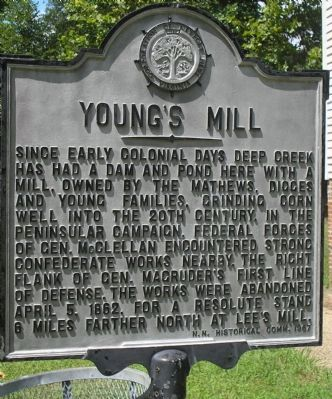 Young�s Mill Marker image. Click for full size.