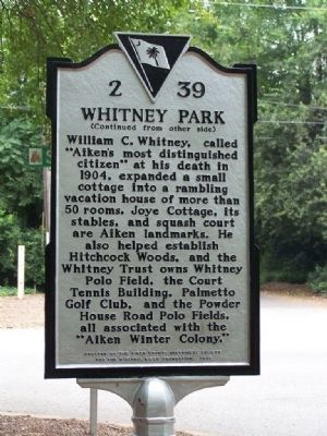 Whitney Park Marker , side 2 image. Click for full size.