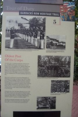 Oldest Post of the Corps Marker image. Click for full size.
