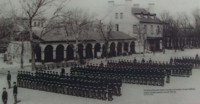 View of the Barracks' parade ground, circa 1905-08 image. Click for full size.