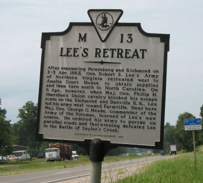 Lee' Retreat Marker image. Click for full size.