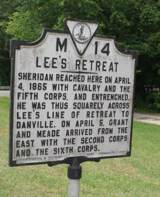 Lee's Retreat Marker image. Click for full size.