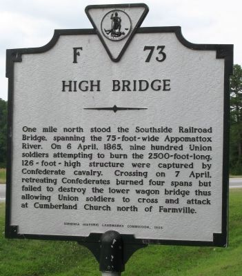 High Bridge Marker image. Click for full size.