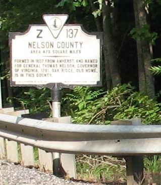 Nelson County Marker image. Click for full size.