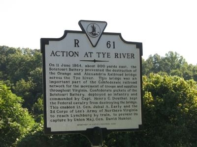 Action at Tye River Marker image. Click for full size.
