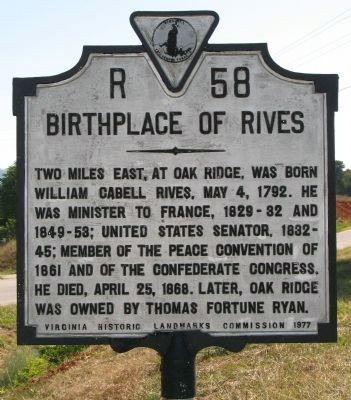 Birthplace of Rives Marker image. Click for full size.
