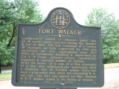 Fort Walker Marker image. Click for full size.