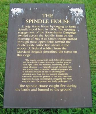 The Spindle House Marker image. Click for full size.