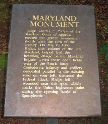 Maryland Monument Marker image. Click for full size.