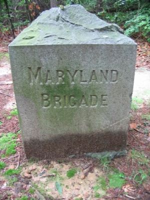 Front of Maryland Brigade Monuent image. Click for full size.