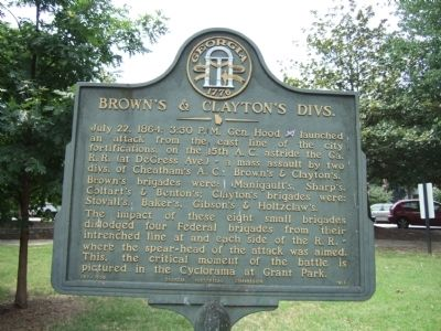 Brown�s & Clayton�s Divs. Marker image. Click for full size.