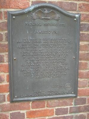 Jamestown Marker image. Click for full size.