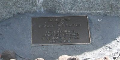 Plaque on Base of Marker image. Click for full size.