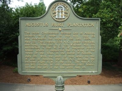 Augustus Hurt Plantation Marker image. Click for full size.