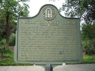 Augustus Hurt House Marker Photo, Click for full size