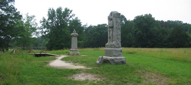49th New York and 15th New Jersey Monuments image. Click for full size.