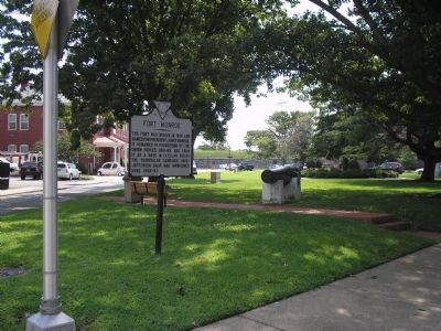 Marker on Grounds of Fort Monroe image. Click for full size.