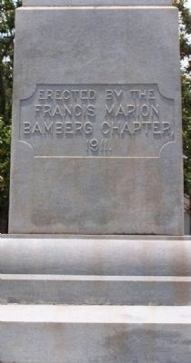 Bamberg Confederate Monument, east face image. Click for full size.