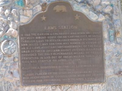 Laws Station Marker image. Click for full size.