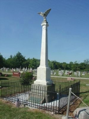 Civil War Memorial - - Monument City Cemetery Marker image. Click for full size.