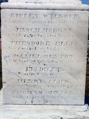 Front (East) Side of Marker image. Click for full size.