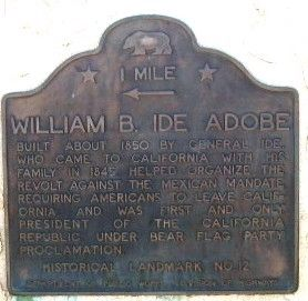 William B. Ide Adobe - 1 Mile Marker image. Click for full size.