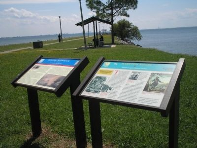 Markers at the Monitor – Merrimack Overlook Park image. Click for full size.