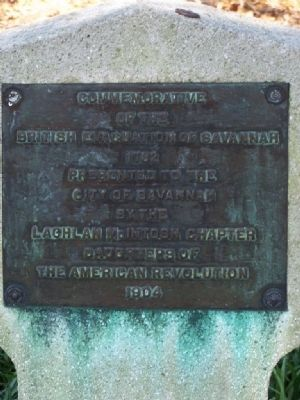 British Evacuation Marker image. Click for full size.