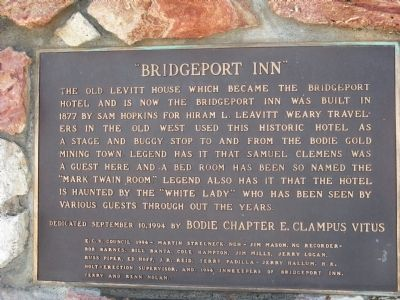 """Bridgeport Inn"" Marker Photo, Click for full size"