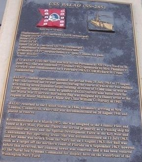 USS Balao (SS-285) Marker Photo, Click for full size