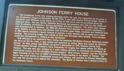 Johnson Ferry House Marker image. Click for full size.